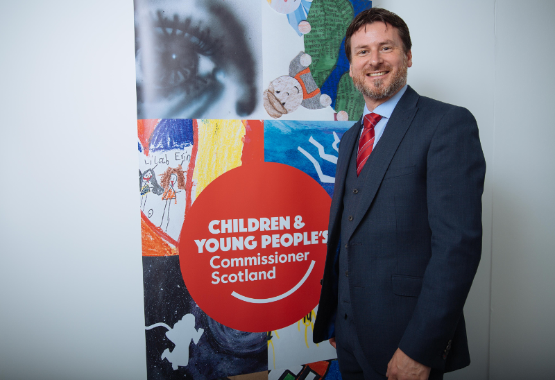 An image of Bruce Adamson, Children and Young People's Commissioner Scotland.