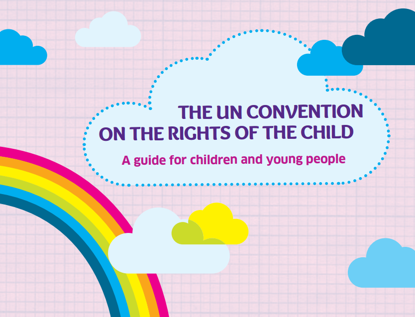 The cover of the booklet explaining the first 42 articles of the UNCRC in simple language.
