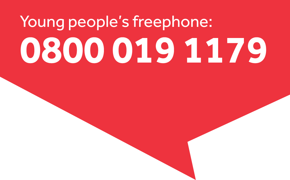 Our young person's freephone number, which is 0800 019 1179.